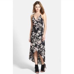 ASTR Floral Faux Wrap Dress